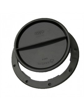 Trappe de visite Ø150mm 1/1T noire
