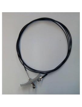 Câble de trapèze Hobie Cat 17 Ø2.5 gainé noir