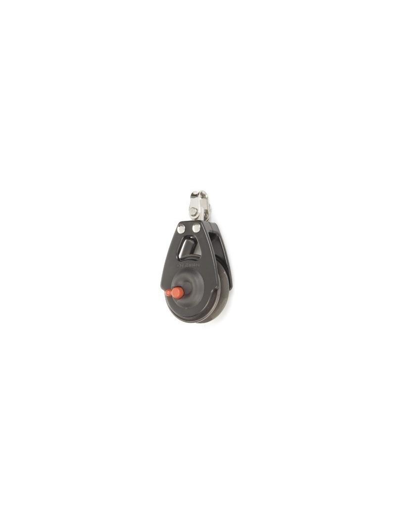Poulie winch simple à billes Ø57mm + émerillon