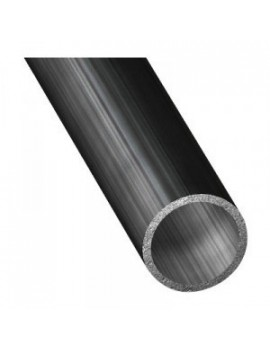 Tube aluminium anodisé noir Ø40x2x1m