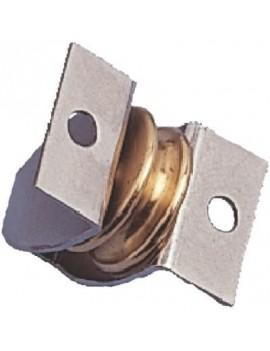 Poulie micro Ø17 verticale en laiton