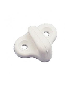Crochet plastique blanc