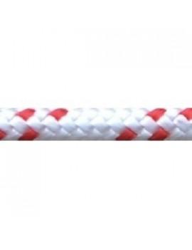 Drisse pré-étiré 24F Ø3mm blanc/fils rouges