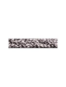 Drisse polyester pré-étirée Ø8mm - chinée noir/gris