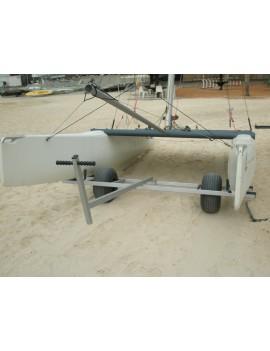 Chariot de mise à l'eau grosses roues - catamarans 14-16 pieds