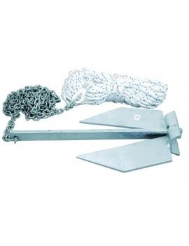 Pack mouillage avec ancre plate 5Kg + chaine + amarre