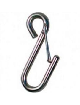 Crochet inox avec garde 3mm