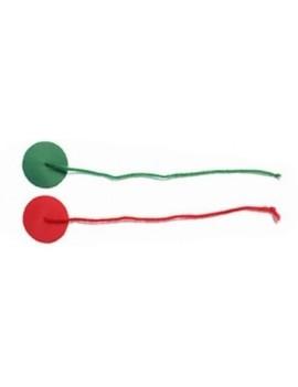 Penons laines avec insigna rouge/vert - La paire