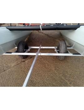 Chariot de mise à l'eau grosses roues - catamarans 13 pieds