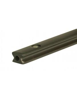 Rail aluminium 14mm anodisé noir