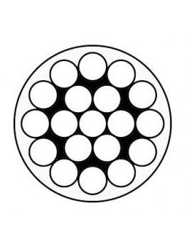 Câble inox monotoron 1x19 - gaine blanche