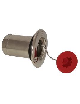Nable inox diesel Ø50mm rouge