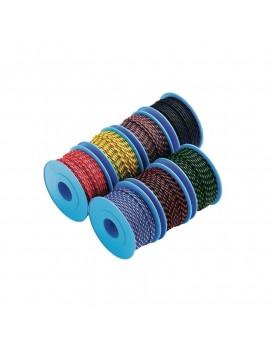 Garcette polyester noir fils violets Ø2mm bobinot 20m