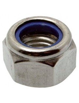 Ecrou frein Ø4 inox A4 (Les 10)