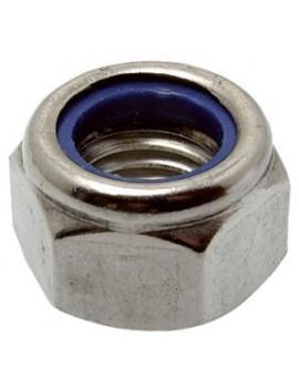 Ecrou frein Ø5 inox A4 (Les 10)